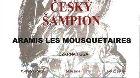 ARAMIS LES MOUSQUETAIRES Czarna Fuga – DUO CACIB BRNO 03-04.02.2018